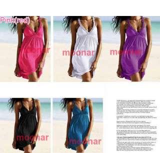 halter midi beach wear dress holliday skirt color black white red blue