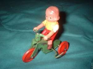 GIRL ON TRICYCLE WIND UP TOY ★★★★★ FIVE STAR DEALER