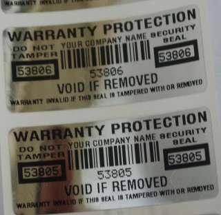 5000 CUSTOM PRINTED WARRANTY STICKERS GR8 4 XBOX PS3 PC
