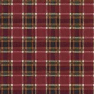 The Wallpaper Company 56 Sq.ft. Red and Green Plaid Wallpaper