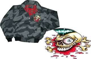 Tattoo Harrington Jacke Splinter Camo Irokese Skull XXL