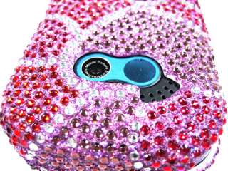 HEARTS PINK DIAMOND BLING CRYSTAL FACEPLATE CASE COVER LG NEON GT365