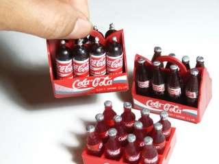 28 Bottles COCA COLA COKE Drink Soda Pop & 3 Tray Plastic Dollhouse