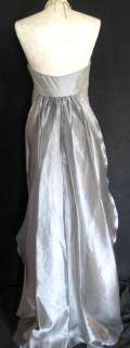 NWT Jessica McClintock Silver Winged Formal Dress Gown Size 6