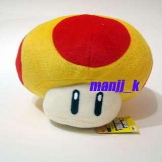 NEW 17cm Super Mario Plush Doll Figure Orange Mushroom