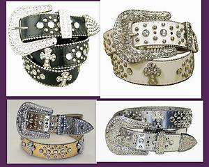 Western Bling Rhinestone Concho Religious Cross Cowgirl Belt Wholesale