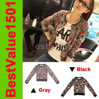 Sweater Girl Lady Long Sleeve Comic Cartoon Jacket Outerwear 2 Colors