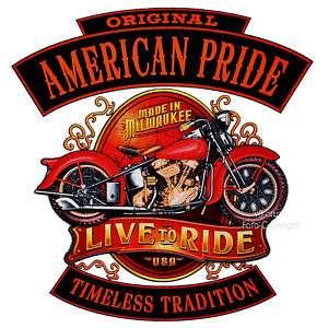 USA Biker Oldtimer Panhead Harley Bike T Shirt *4253