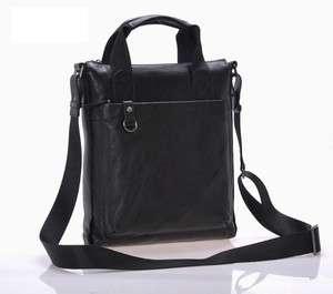 New real leather mens shoulder bag handbag Messenger Bags black 0955
