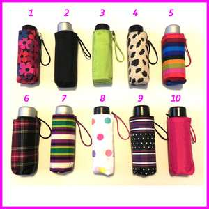 Mini Small Travel Umbrella Black Pink Green Rainbow Leopard &more New