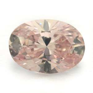 Rare Certified Fancy Orangy Pink Loose Natural Diamond Oval SI1 0.21ct