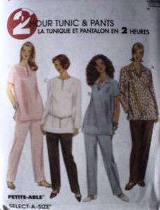 UNCUT McCalls Pattern Tunic Pull on Pants 8842 OOP FF