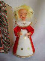 VINTAGE CHRISTMAS ANGEL MUSIC BOX IN BOX