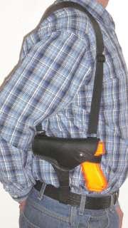 LEATHER SHOULDER GUN HOLSTER FOR BERETTA 3   3.5 BBL