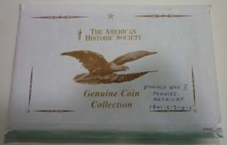 American Genuine World War II Penny Collection 1941 45