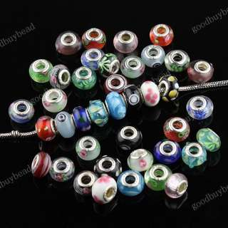 100X WHOLESALE MIX LAMPWORK GLASS FINDINGS CHARM BEADS