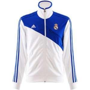 Adidas Real Madrid Track Top Jacke weiß/blau 2010/2011 Farbe weiß