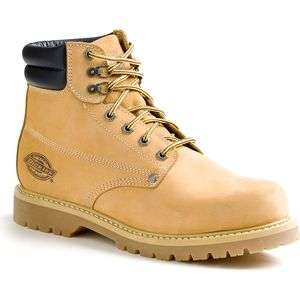 Dickies Mens Raider Steel Toe Work Boots DW7024 Wheat 8 13