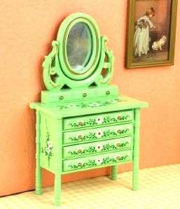 Dollhouse Miniature Bedroom Furniture Dresser Mirror G