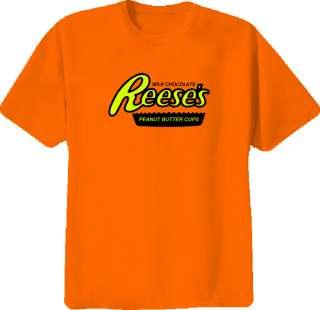 Reeses Chocolate Bar Funny Classic NEW Orange T Shirt