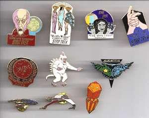 STAR TREK Classic Series Cloisonne Pin Set of 10 Pins