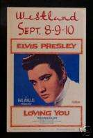 LOVING YOU *ORIG WINDOW CARD MOVIE POSTER ELVIS PRESLEY