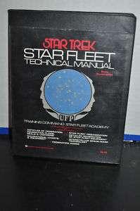 STAR TREK STAR FLEET TECHNICAL MANUAL 1975 1st PRINT