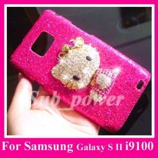 Samsung Galaxy S II i9100 3D Hello Kitty Bling Case B2