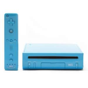 Nintendo Wii Limited Edition Blue Console NTSC 0609224596117