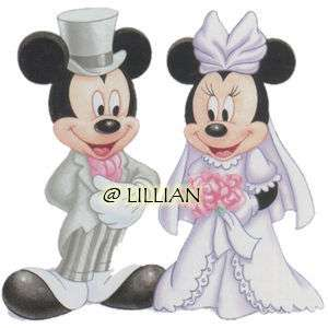 NEW ~DISNEY MICKEY MINNIE WEDDING Cross Stitch KIT