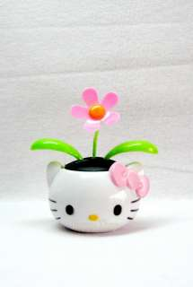NEW~~Cute Hello Kitty Flower Pot Flip Flap Solar Power