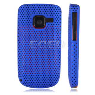 Ecell Style Range   Perforated Back Case for Nokia C3   Blue