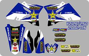 ROCKSTAR MOTOCROSS GRAPHICS STICKERS DECAL KIT YAMAHA YZ YZ125