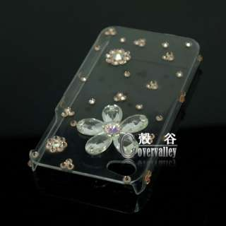 bling Swarovski crystal flower hard case cover iPhone 4 4g d4