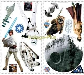STAR WARS Luc Skywalker Jedi 31 STICKERS Muraux Déco