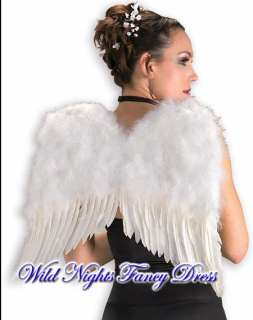 FANCY DRESS ACCESSORIES ~ DLX WHITE FEATHER ANGEL WINGS