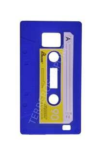 Funda Cinta Cassette Retro Samsung Galaxy S2 i9100 Azul