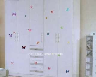 21 Colourful Butterflies Wall Art Stickers Wall Decals