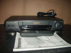 PANASONIC NV SD420 VHS VIDEO RECORDER INSTRUCTIONS