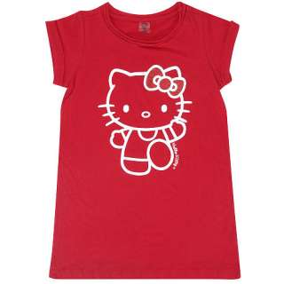 Hello Kitty Embellished T Shirt Dress   Red (Size 2T)   AGE Group