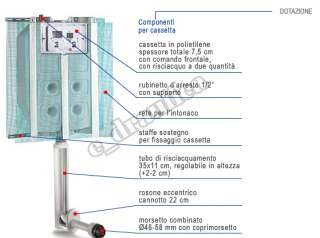 CASSETTA WC PUCCI INCASSO ECO 9 4 L + PLACCA CROMATA