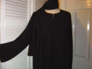 SIZE 62 Black Jilbab Abaya hijab niqab dress burqa veil