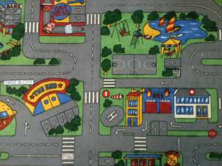 BIG large Kids road car map rug FUN PLAY MATS large long small boys