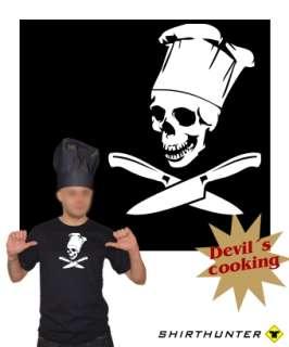 KOCH PROFI T SHIRT Küchenmesser Totenkopf Skull h44
