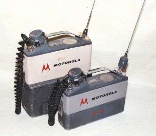 RARE VINTAGE MOTOROLA HANDIE TALKIE CIVIL DEFENSE DISPATCHER FM MOBILE