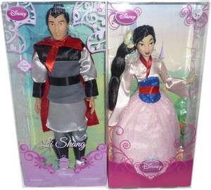 Couple Disney Poupée Mulan Princesse Chinoise et Li Shang