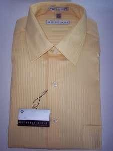 Geoffrey Beene Mens Dress Shirt NWT $49.50 Yellow 15 32/33
