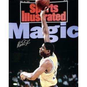 Magic Johnson Autographed Sports Illustrated Cover 11/18