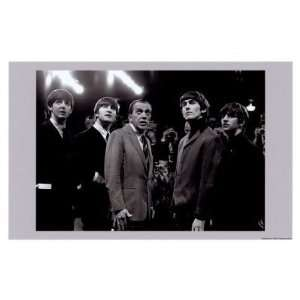 The Beatles and Ed Sullivan, 1965 Art Poster Print, 17x11