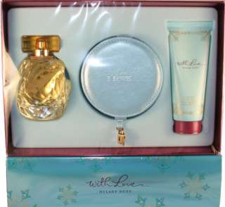 WITH LOVE BY HILARY DUFF 3 PIECES SET WITH 3.3 OZ EDP SPRAY FOR WOMEN